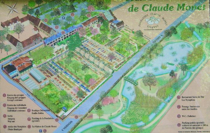 Map Of France Giverny.Knowlton School Digital Libraryworkclaude Monet S Garden At Giverny